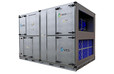 VES premium efficiency Ecovent Wheel heat recovery air handling unit
