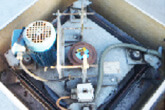 Out-dated belt driven motor to be replaced