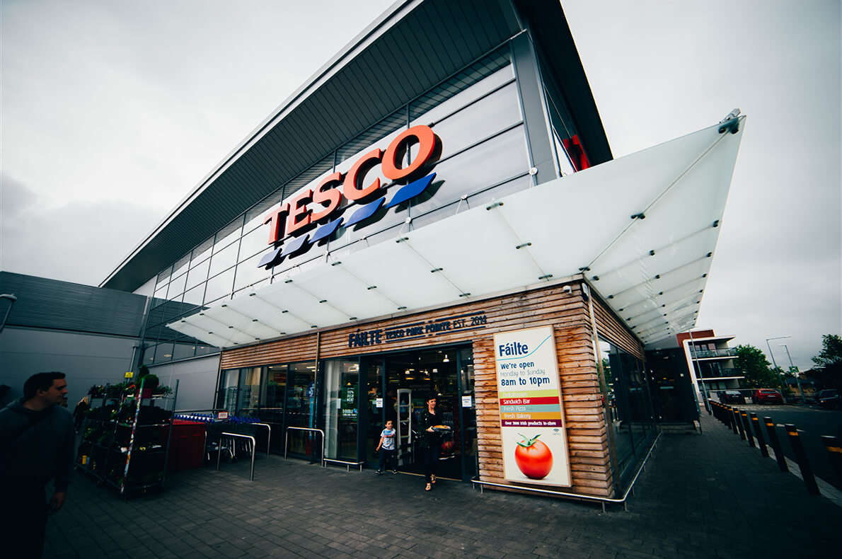 Ventilation solutions used in tesco store