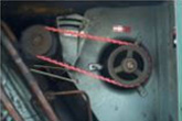 Dated belt motor needed to be upgraded