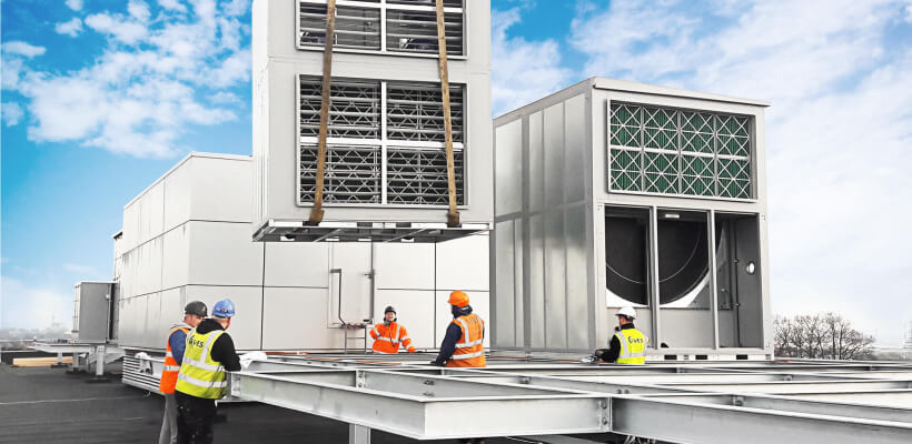 Expert site assistance to install refurbished AHU assistance